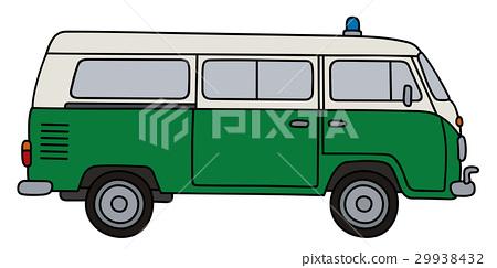 Classic police minivan 29938432
