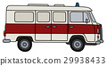 Old white ambulance 29938433