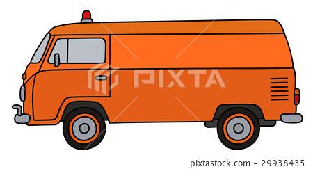 Old service minivan 29938435