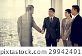 Business Partners Introductionary Handshake Bow 29942491