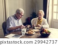 Senior Adult Couple Eat Breakfast 29942737
