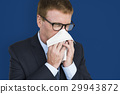Business Man Sick Cry Tissue Paper 29943872