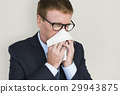 Business Man Sick Cry Tissue Paper 29943875