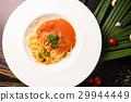Spaghetti pasta with meatballs and tomato sauce 29944449