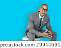 African Descent Business Man Thinking Concept 29944691