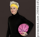 Woman Smiling Happiness Basketball Sport Portrait 29946185