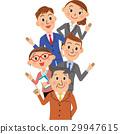 นักธุรกิจ,ธุรกิจ,ภาพวาดมือ ธุรกิจ 29947615