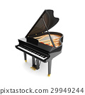 Black glossy musical instrument - acoustic piano. 29949244