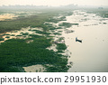 Life of India : Fishing boat in a sunset river 29951930