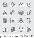 Business and Strategy line icon 29952087