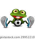 Frog Sitting with a Soccer Ball 29952210