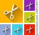 icon scissors flat 29952807