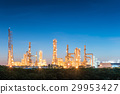 petrochemical plant on twilight scene. 29953427