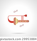 Trombone club flat color vector icon 29953884