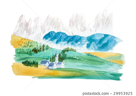 Natural summer landscape mountains and meadow 29953925