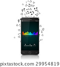 Smartphone with music notes.vector 29954819