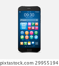 Smartphone with application icons.vector 29955194