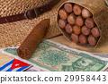 Siesta - cigars, straw hat and Cuban banknotes 29958443