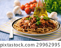 Wholegrain spaghetti with homemade bolognese sauce 29962995