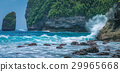 Ocean Waves hitiing Rocks on Tembeling Coastline 29965668
