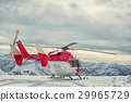 Helicopter mountain rescue service in the winter 29965729