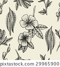 Black and white floral seamless pattern 29965900