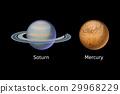 High quality mercury galaxy astronomy saturn 29968229