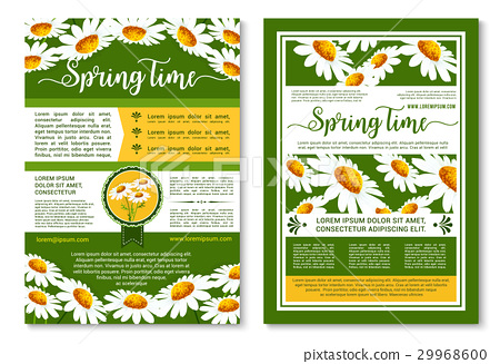 Spring flowers poster or brochure template 29968600
