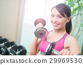 sport woman with dumbbell 29969530