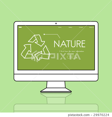 Nature Environment Eco Friendly Recycle Symbol Sign 29970224