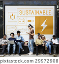 People with energy saving sustainability power generation campaign 29972908