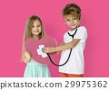 Little Children Heart Stethoscope Doctor 29975362