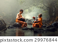 Novice Monk in Thailand 29976844
