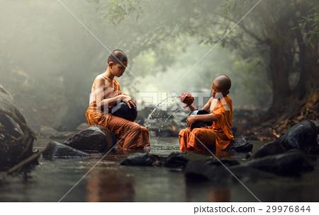 Novice Monk in Thailand 29976844