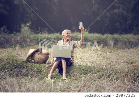Asian woman Selfie 29977225
