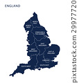 Map of England with counties UK  29977720