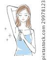 Female long hair with no fragrance deodorant spray 29978123