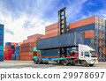Containers at the Docks with Truck 29978697