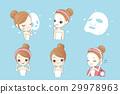 cartoon, face, mask 29978963