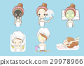 cartoon woman enjoy massage 29978966