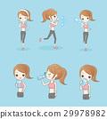 cute cartoon sport woman 29978982