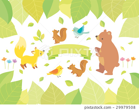 Illustration of plants and animals 29979508
