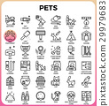 Pets concept detailed line icons 29979683