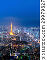 Cityscape view over Tokyo tower  29979827