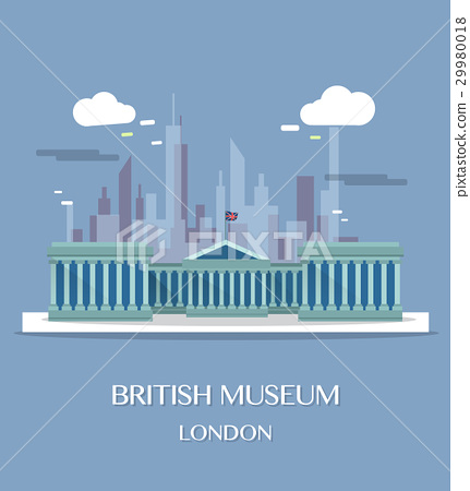 Famous London Landmark British Museum 29980018