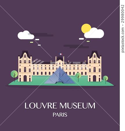 Famous landmark Louvre Museum Paris France 29980042