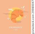 croissant, vector, illustration 29980047