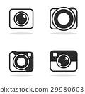 Camera icon on white background, flat style. 29980603