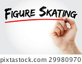 Hand writing Figure skating with marker 29980970