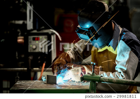 Industrial welding worker at the factory 29981811